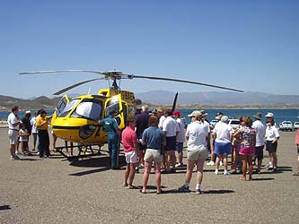 Life Flight Helicopter Display
